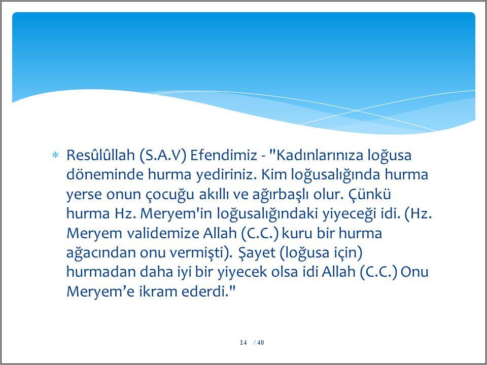  Resûlûllah (S.A.V) Efendimiz -