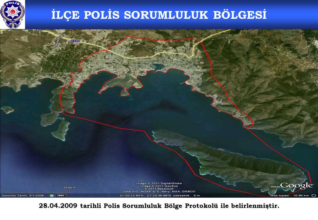 İLÇE POLİS SORUMLULUK BÖLGESİ 28.04.2009 tarihli Polis Sorumluluk Bölge Protokolü ile belirlenmiştir.