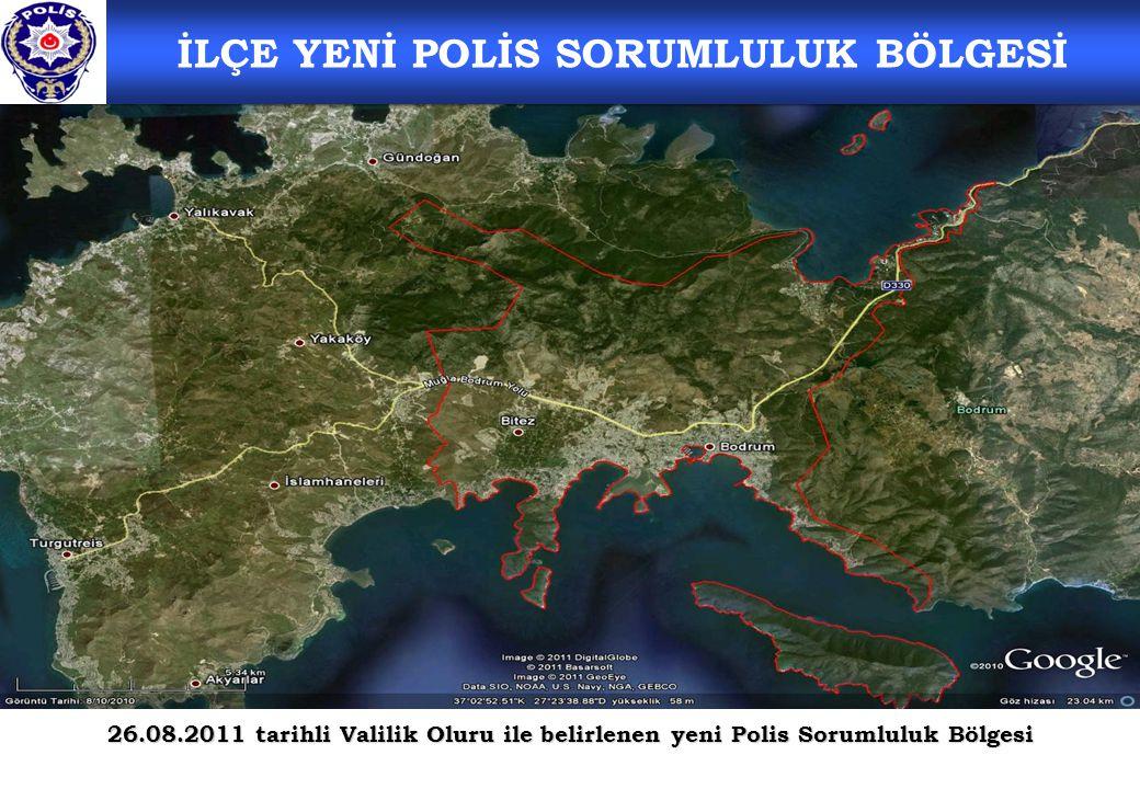 İLÇE YENİ POLİS SORUMLULUK BÖLGESİ 26.08.2011 tarihli Valilik Oluru ile belirlenen yeni Polis Sorumluluk Bölgesi
