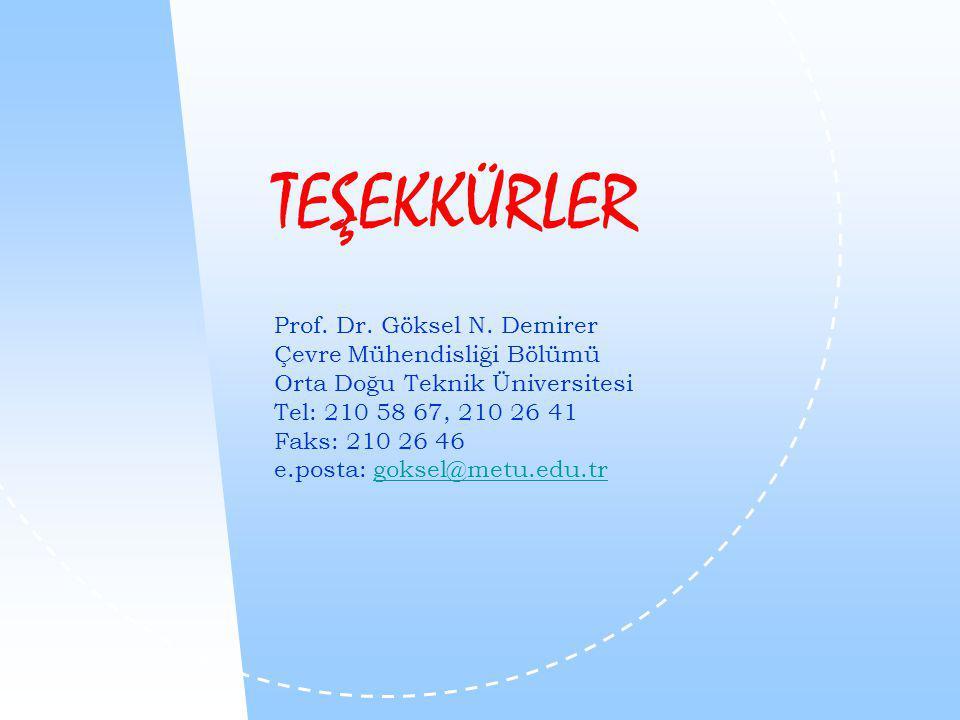 TEŞEKKÜRLER Prof. Dr. Göksel N.