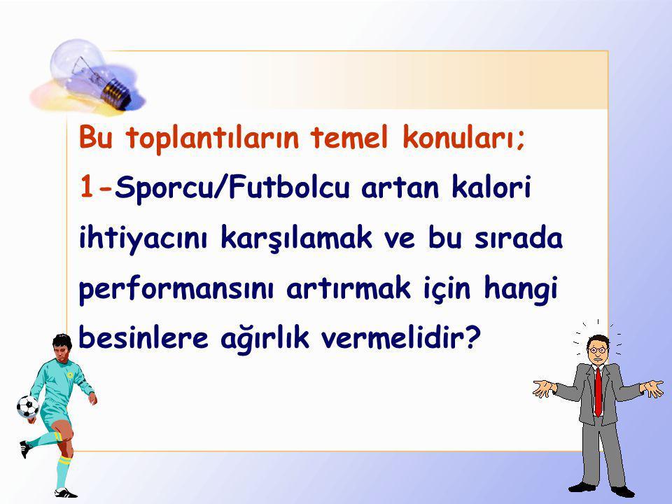 2- Zürih'de 1994 yılında dünyanın en önde gelen spor dallarından biri olan futbol konusunda FIFA Spor Komitesi'nce düzenlenen Futbolda Performans için