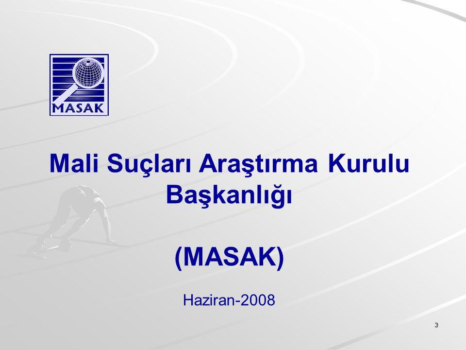 3 Mali Suçları Araştırma Kurulu Başkanlığı (MASAK) Haziran-2008