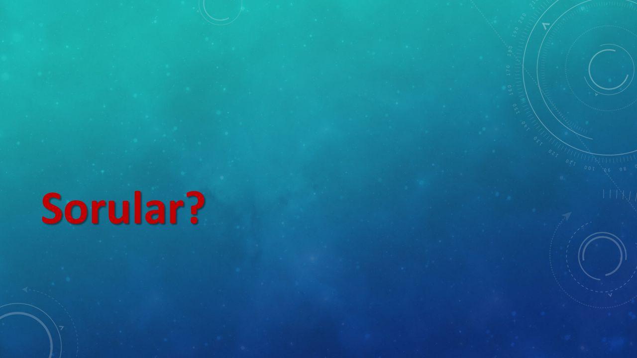 Sorular?