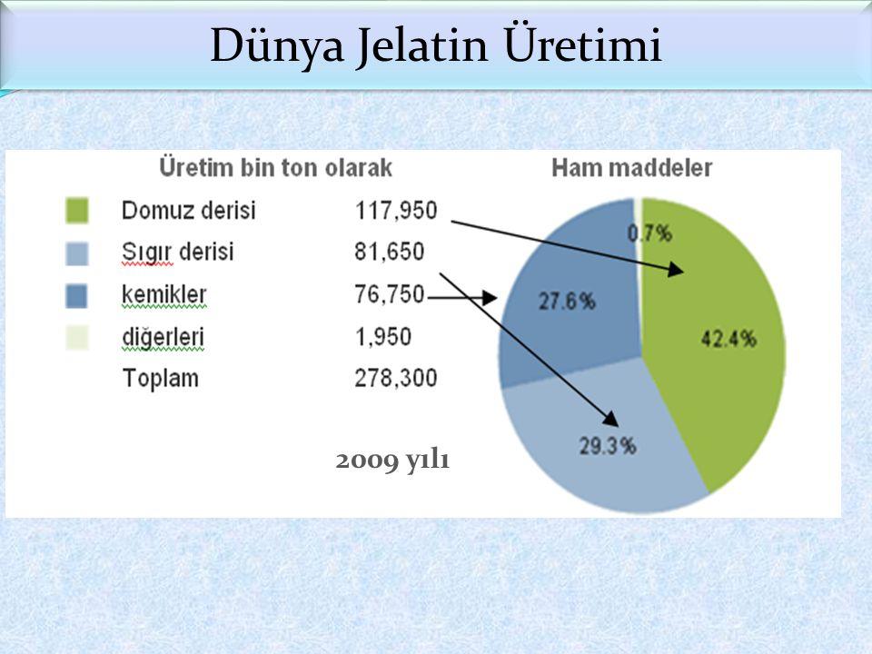 2009 yılı Dünya Jelatin Üretimi