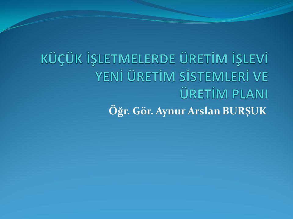 Öğr. Gör. Aynur Arslan BURŞUK