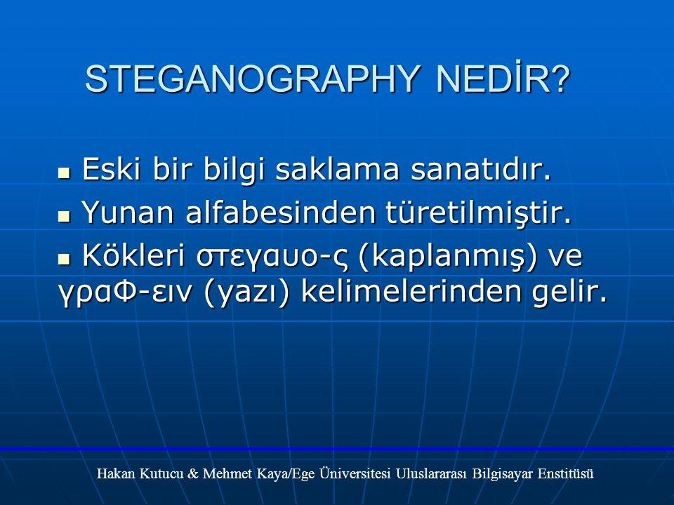 STEGANOGRAPHY NEDİR.Eski bir bilgi saklama sanatıdır.