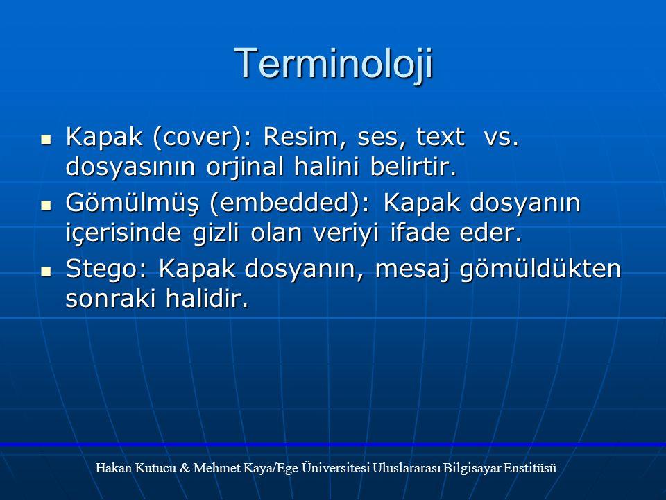 Terminoloji Kapak (cover): Resim, ses, text vs.dosyasının orjinal halini belirtir.