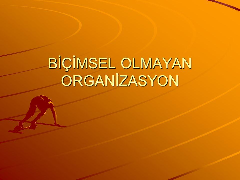 Örgütsel Buzdağı Biçimsel Organizasyon (Hiyerarşik yapı, biçimsel ilişkiler, yetki ve sorumluluklar, planlar, politikalar, vb.