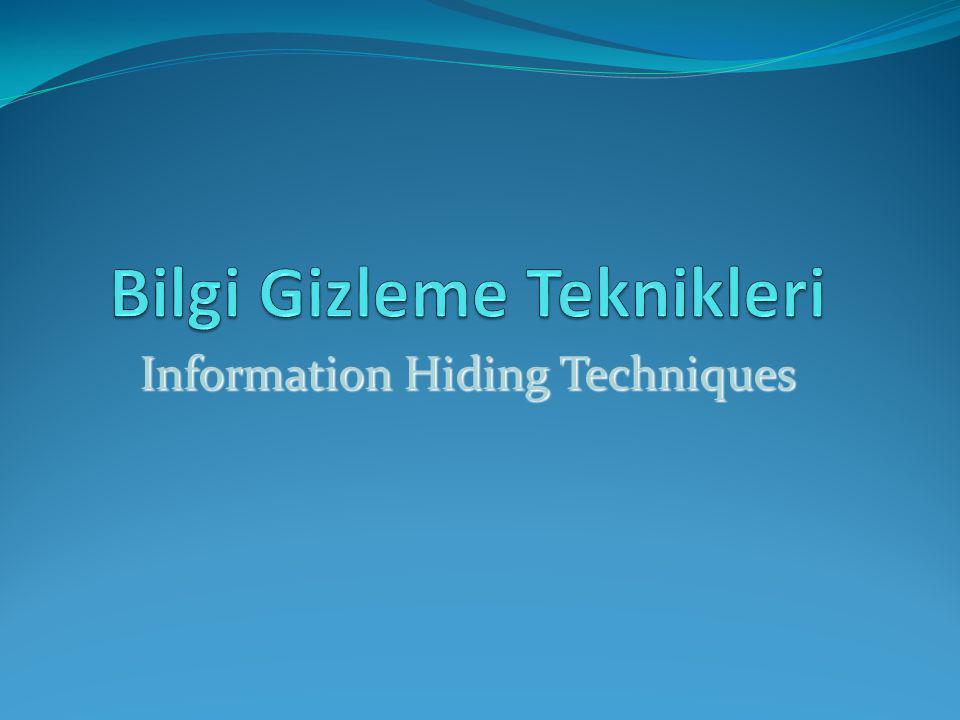 Information Hiding Techniques