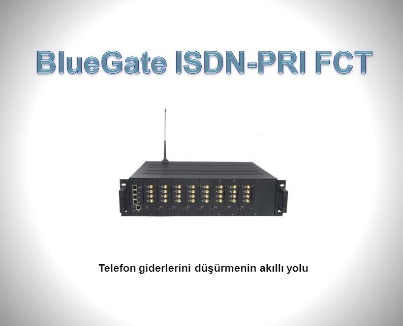 BlueGate ISDN-PRI FCT Dış ortam anteni (Seçimlik) Bina dışındaki etkili GSM sinyalini cihazın bulunduğu yere taşıma imkanı sağlar.