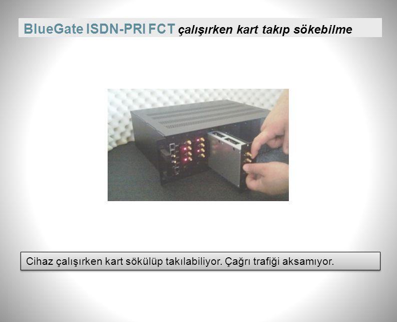 BlueGate ISDN-PRI FCT SMS ve E-POSTA ile Alarm Uyarısı GSM veya santralden gelen alarmları sistem yöneticisine gönderebiliyor. GSM veya santralden gel