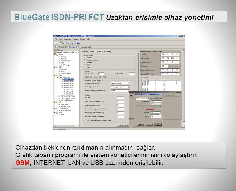 BlueGate ISDN-PRI FCT çalışırken kart takıp sökebilme Cihaz çalışırken kart sökülüp takılabiliyor. Çağrı trafiği aksamıyor. Cihaz çalışırken kart sökü