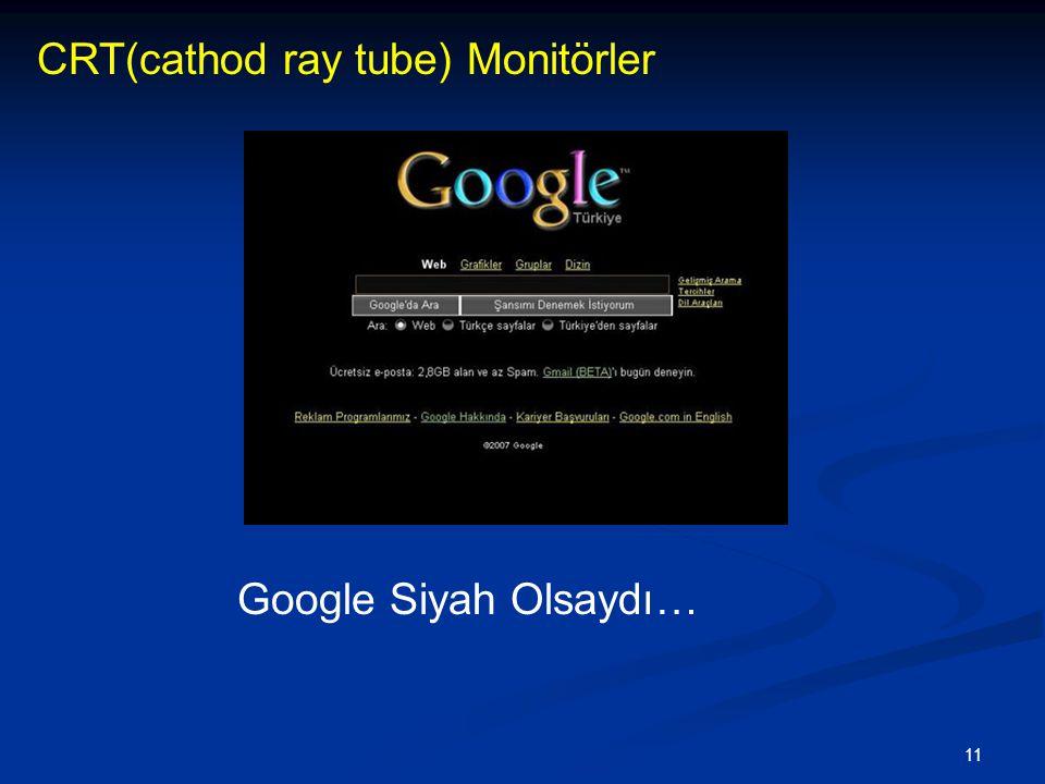 11 CRT(cathod ray tube) Monitörler Google Siyah Olsaydı…