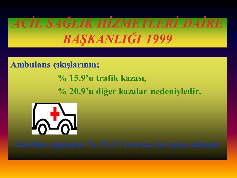 Karayolu Trafik Kaza İstatistikleri 1998