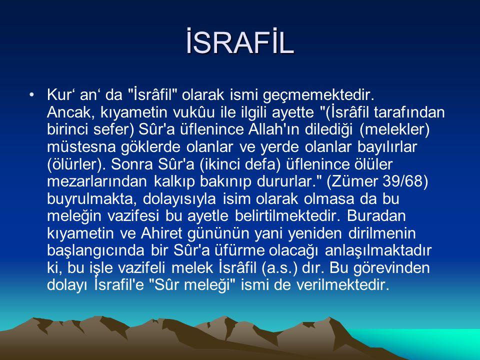 İSRAFİL Kur' an' da