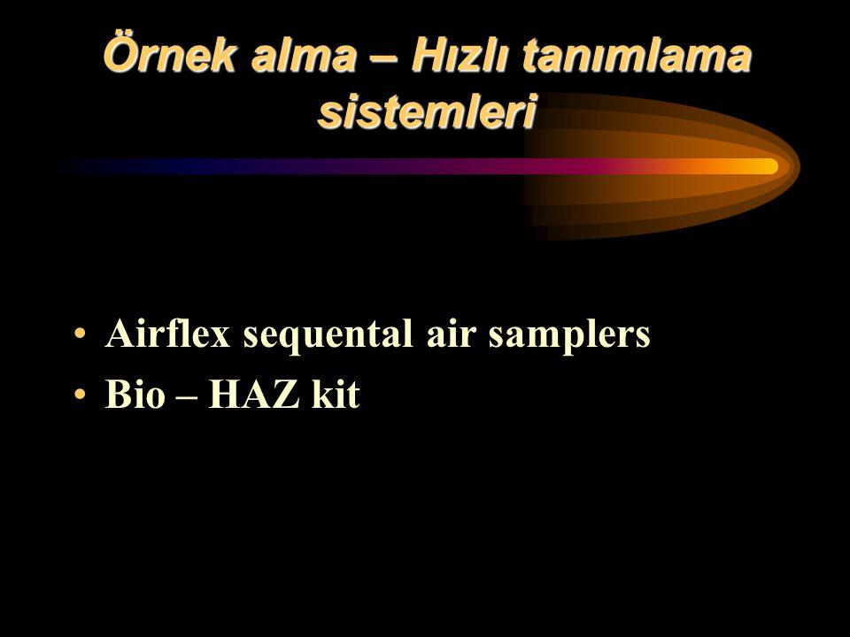 Örnek alma – Hızlı tanımlama sistemleri Airflex sequental air samplers Bio – HAZ kit