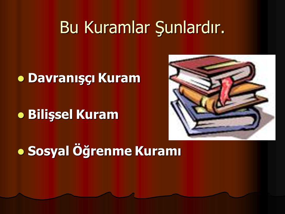 KAYNAKLAR Prof.Dr. Nuray SENEMOĞLU.Gelişim, Öğrenme ve Öğretim,Gazi Kitabevi.