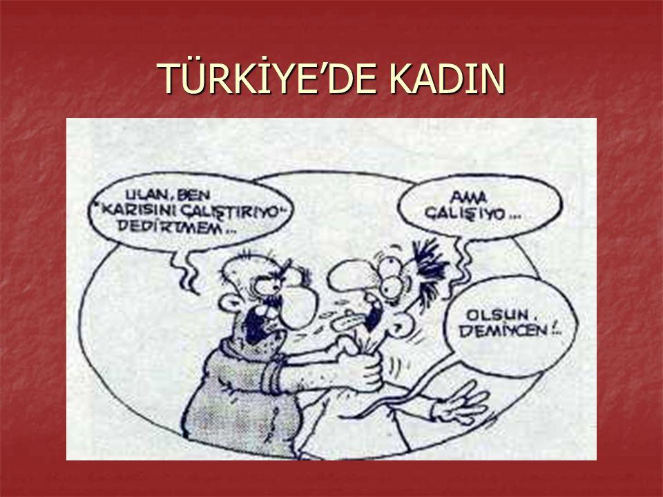 TÜRKİYE'DE KADIN
