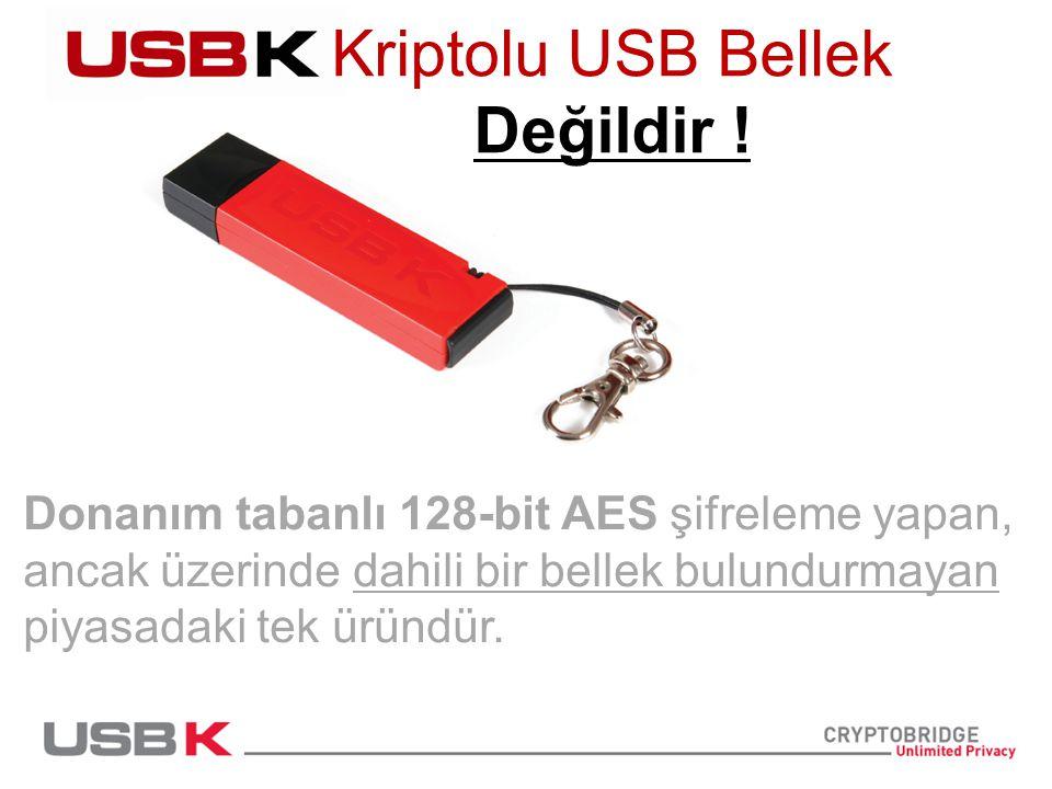Donanım tabanlı 128-bit AES şifreleme yapan, ancak üzerinde dahili bir bellek bulundurmayan piyasadaki tek üründür.