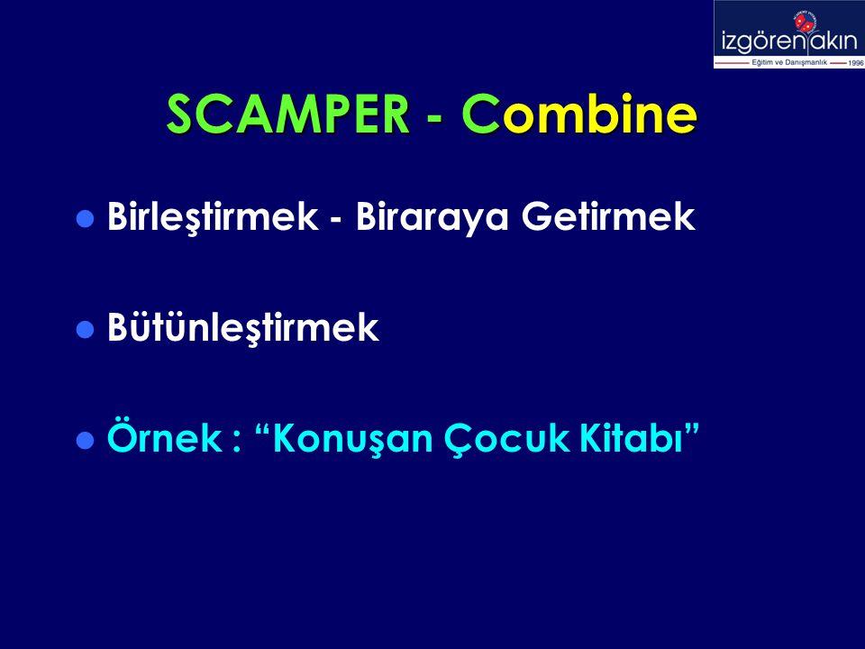 """SCAMPER - Combine Birleştirmek - Biraraya Getirmek Bütünleştirmek Örnek : """"Konuşan Çocuk Kitabı"""""""