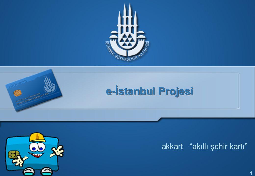 """1 e-İstanbul Projesi akkart """"akıllı şehir kartı"""""""