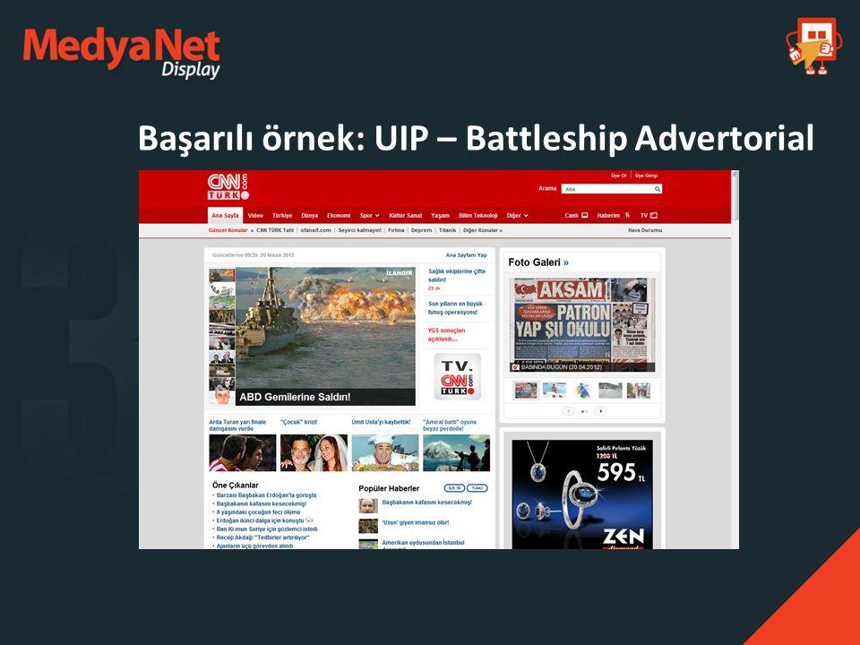 Başarılı örnek: UIP – Battleship Advertorial
