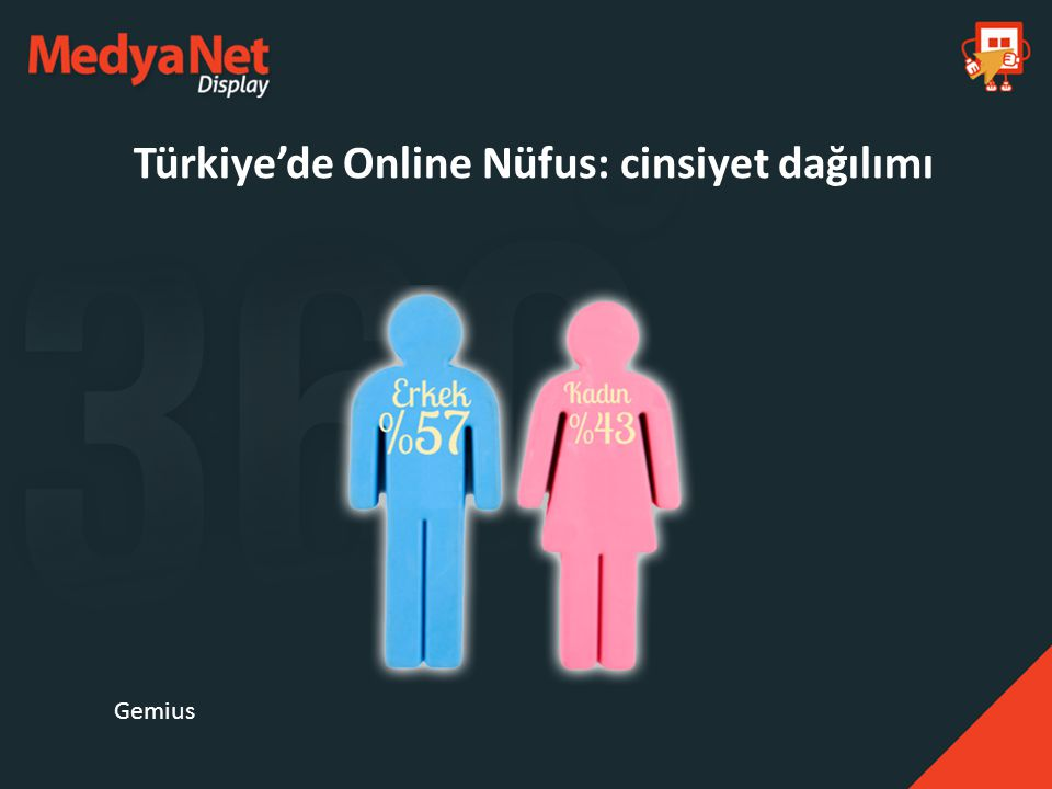 Türkiye'de Online Nüfus: yaş dağılımı Gemius