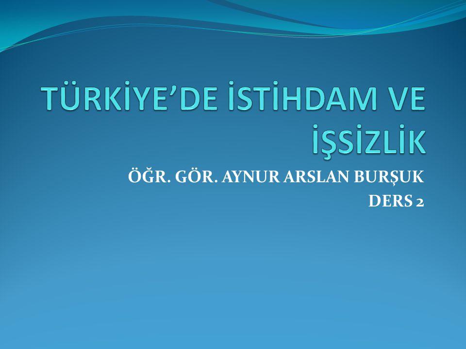 Türkiye'deki İşsizliğin Azalma Eğiliminde Görünmesinin Nedenleri İşgücüne katılma oranı, bir ülkedeki toplam veya çalışma çağına gelmiş nüfusun ne kadarının çalışmak arzusunda olduğunu (%) olarak gösterir.