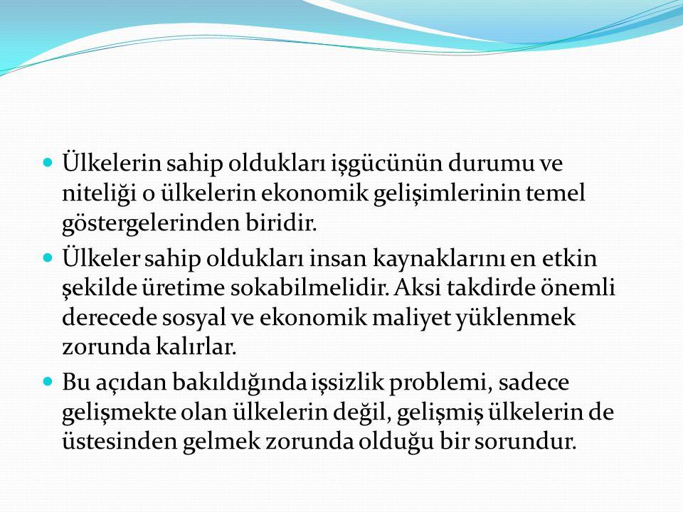 Türkiye'deki İşsizliğin Azalma Eğiliminde Görünmesinin Nedenleri 1.