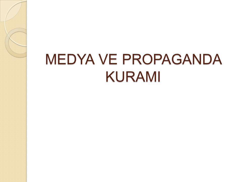 Propaganda Modeli'nin 5 Temel Süzgeci 1.