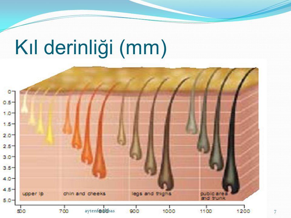 Alexandrite Dalga boyu:755nm Epidermal melanin tarafından daha az absorbe edilir Özellikle koyu tenlilerde epidermal hasar riski daha azdır Epidermal soğutma sistemi kullanılmalıdır.