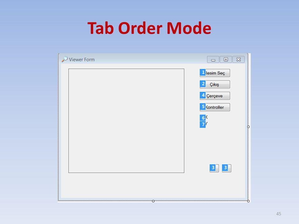 Tab Order Mode 45