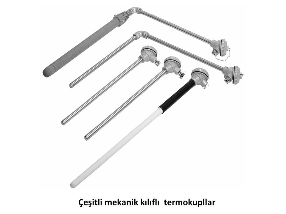 Çeşitli mekanik kılıflı termokupllar