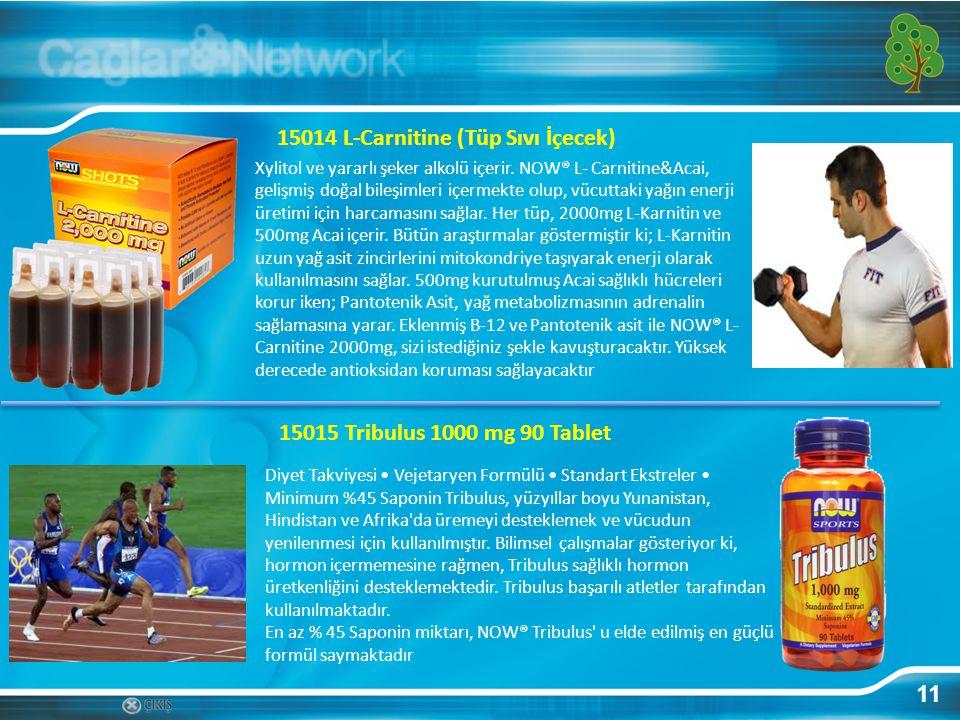 11 15014 L-Carnitine (Tüp Sıvı İçecek) Xylitol ve yararlı şeker alkolü içerir. NOW® L- Carnitine&Acai, gelişmiş doğal bileşimleri içermekte olup, vücu