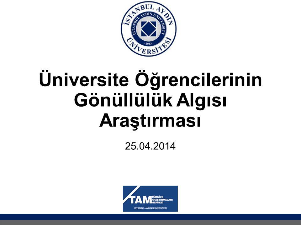 Üniversite Öğrencilerinin Gönüllülük Algısı Araştırması 25.04.2014