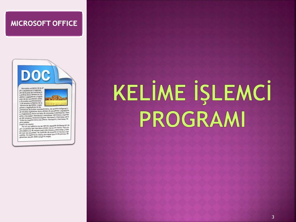  Bilgisayarda yazı yazmak ve rapor hazırlamak amacıyla kullanılan programlara Kelime İşlemci programları denir.