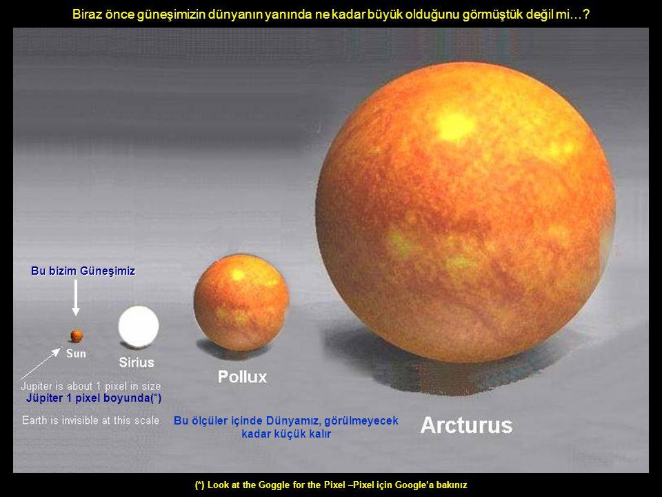 Bunlar epey aydınlatıcı, değil mi….? Biraz da bildiğimiz,görmekten bıktığımız bilgiler…..! Ama gelin ….bir de Güneş Sistemimizin dışına bakalım...