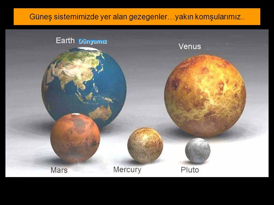 Dünyamız Güneş sistemimizde yer alan gezegenler…yakın komşularımız..