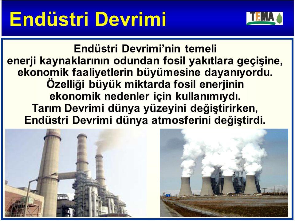Endüstri Devrimi'nin temeli enerji kaynaklarının odundan fosil yakıtlara geçişine, ekonomik faaliyetlerin büyümesine dayanıyordu.