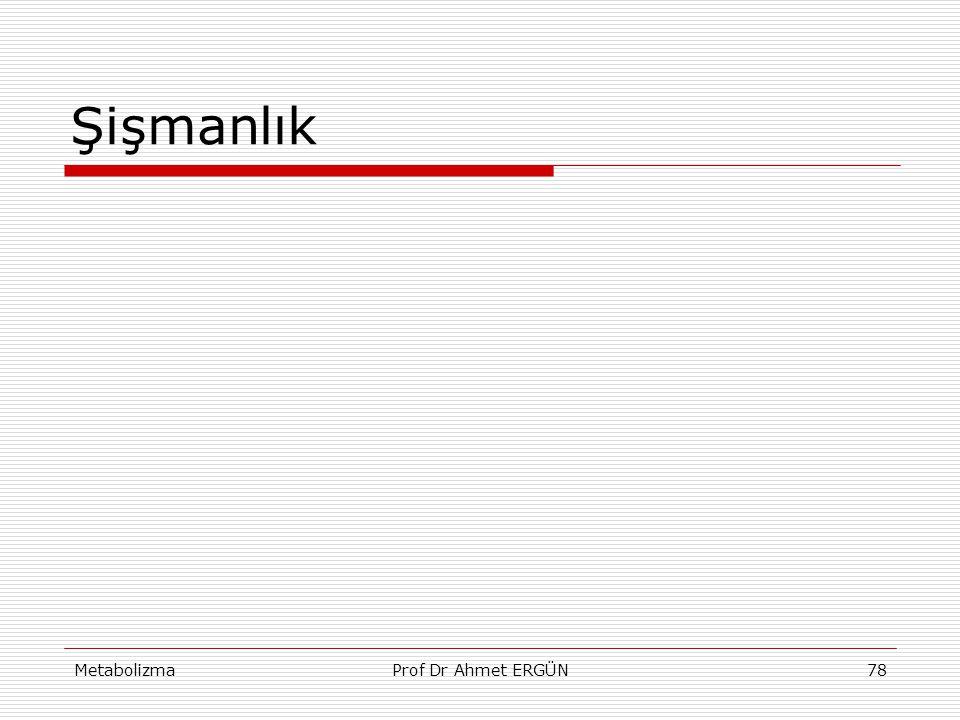 MetabolizmaProf Dr Ahmet ERGÜN78 Şişmanlık