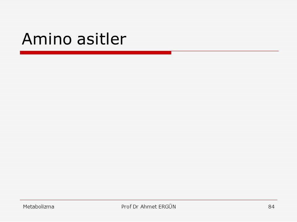 MetabolizmaProf Dr Ahmet ERGÜN84 Amino asitler