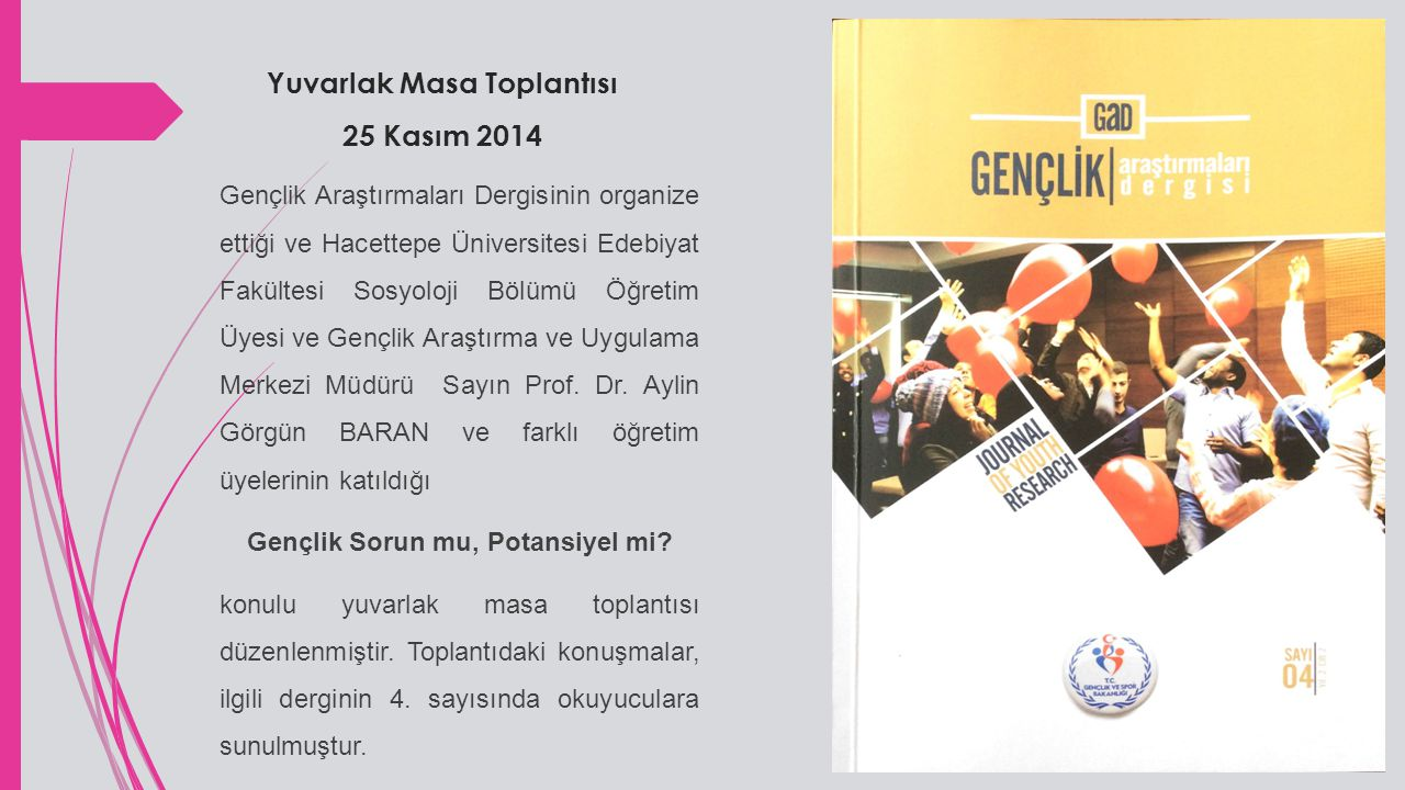 Doktora Dersi SOS 713 Gençlik Sosyolojisi Prof.Dr.