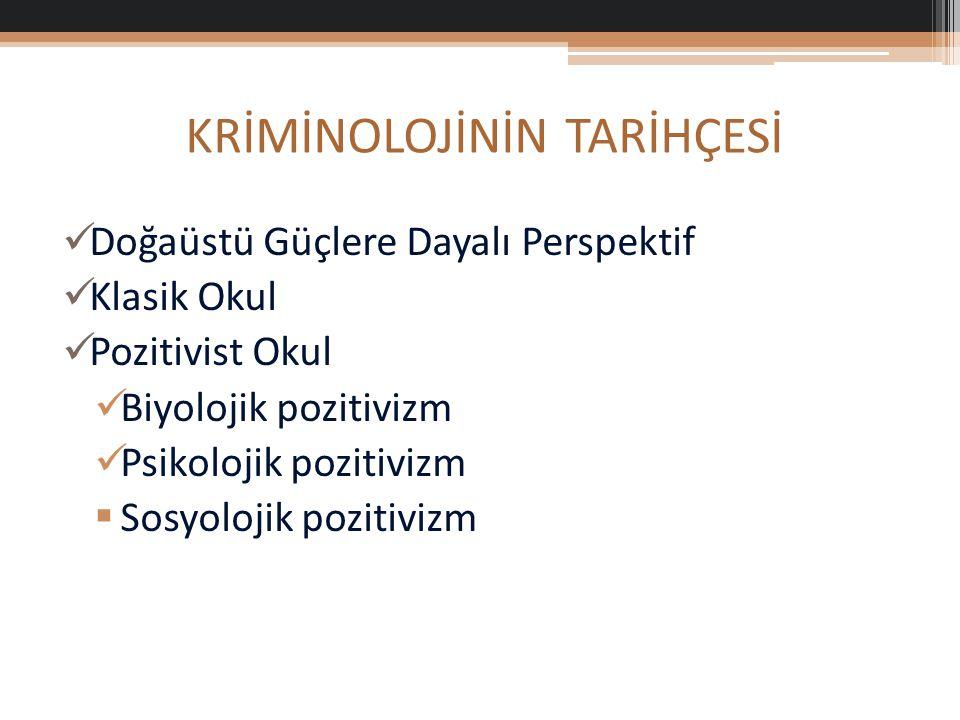 Sosyolojik Suç Teorileri 1.