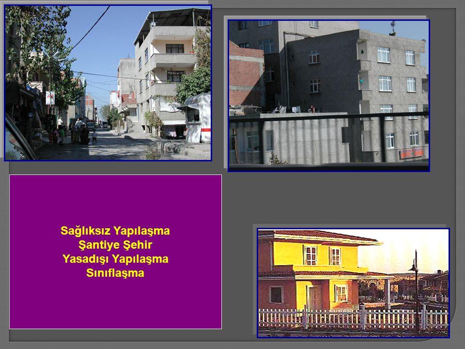 Sağlıksız Yapılaşma Şantiye Şehir Yasadışı Yapılaşma Sınıflaşma