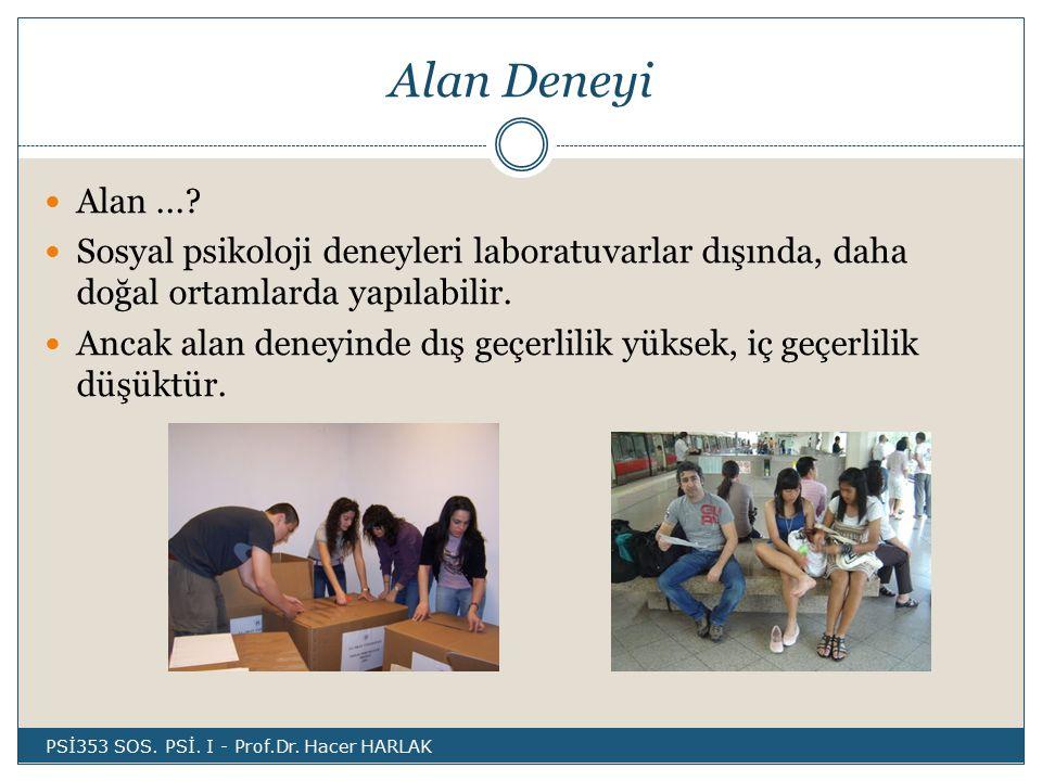 Alan Deneyi Alan....
