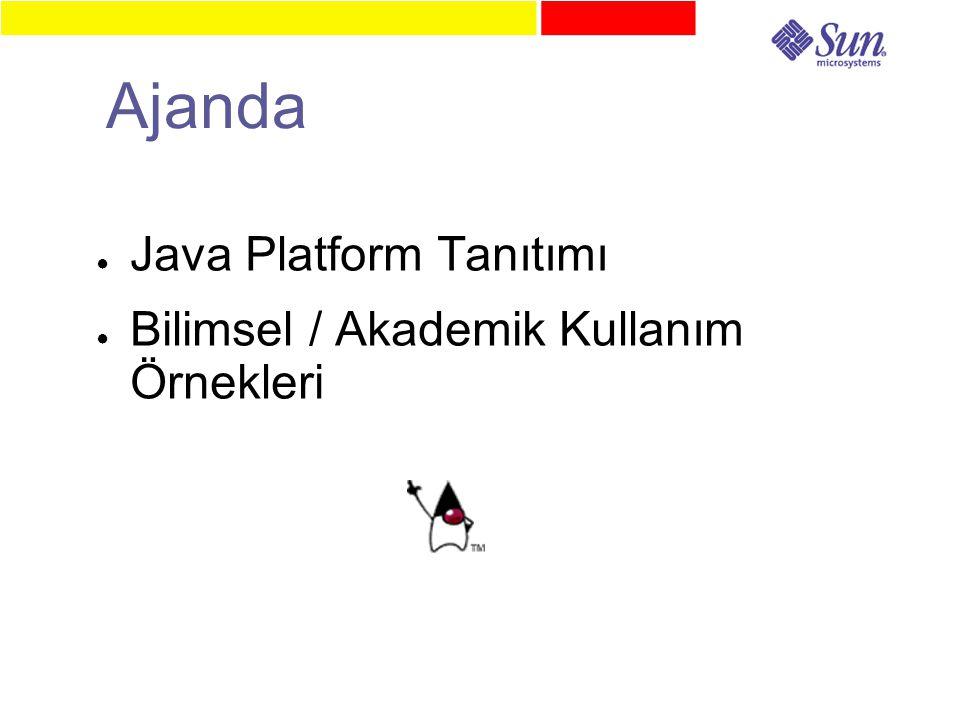 Ajanda ● Java Platform Tanıtımı ● Bilimsel / Akademik Kullanım Örnekleri