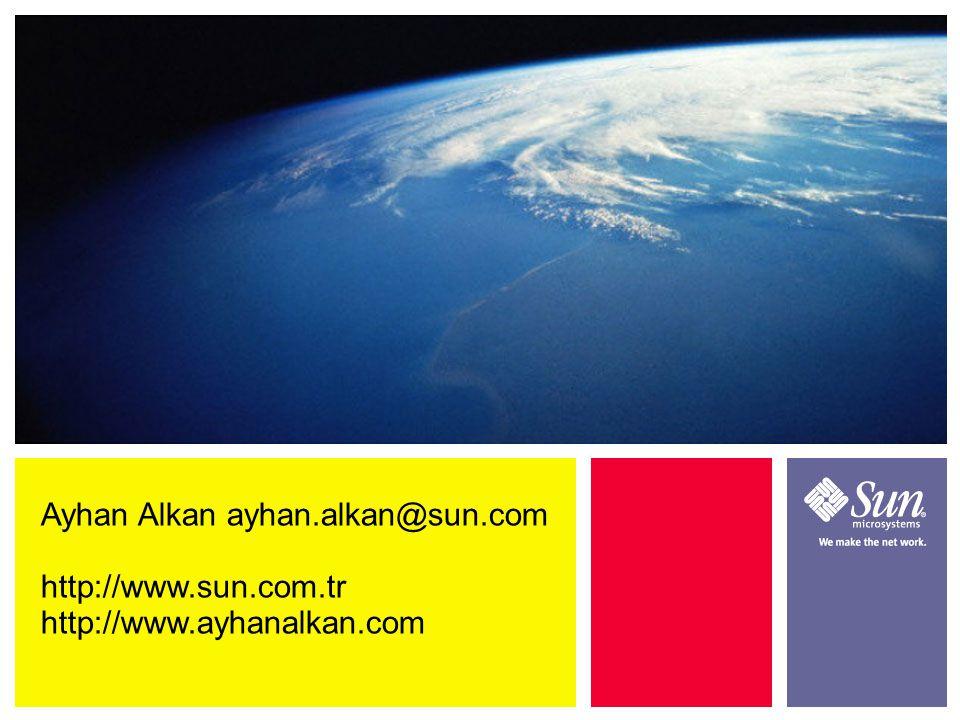 Ayhan Alkan ayhan.alkan@sun.com http://www.sun.com.tr http://www.ayhanalkan.com