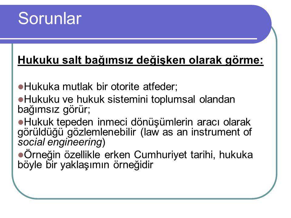 Çözüm Esas soru hukuk mu toplumu, toplum mu hukuku etkiler sorusu olmamalıdır.