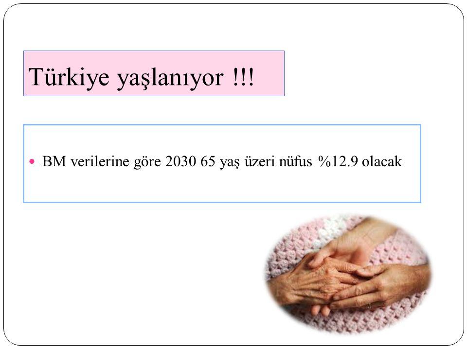 Türkiye yaşlanıyor !!! BM verilerine göre 2030 65 yaş üzeri nüfus %12.9 olacak