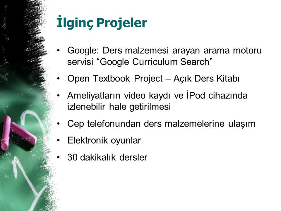 """İlginç Projeler Google: Ders malzemesi arayan arama motoru servisi """"Google Curriculum Search"""" Open Textbook Project – Açık Ders Kitabı Ameliyatların v"""